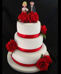 3 tier red and black wedding cakes wedding decor theme