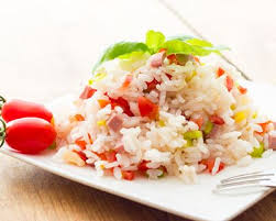 cuisine salade de riz recette salade de riz aux légumes et dés de jambon facile rapide