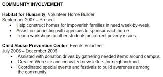 How To Mention Volunteer Work In Resume Optional Resume Section Community Involvement