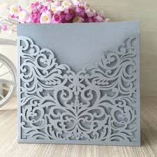 Wedding Invitation Card Maker Online Shop Party Silver Invitation Card Cover Design Laser Cut