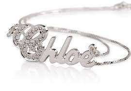 custom made name necklaces personalized sterling silver sparkling swarovski name necklace