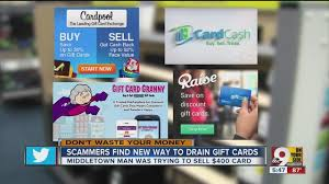 sell e gift cards new gift card scam drains card while you listen wcpo cincinnati oh