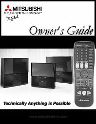 mitsubishi electronics crt television ws 65908 user guide