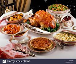 traditional thanksgiving dinner usa stock photo royalty free