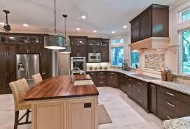walnut kitchen island contemporary kitchen with kitchen island glass panel zillow