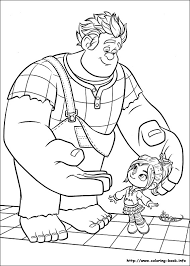 wreck ralph coloring pages coloring book