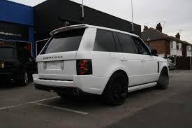 wrapped range rover sport wraap gallery range rover overfinch matte white wrap