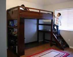 bedroom glamorous bunk beds with stairs and slide and desk bunk