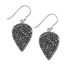 earrings brand lyst lucky brand silvertone guitar earrings in metallic