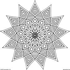 images of printable hard geometric coloring pages throughout