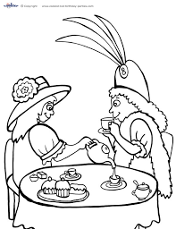 printable tea party coloring 1 coolest free printables