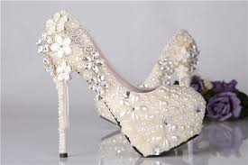 pearl wedding shoes 2015 wedding shoes new manual shoes pearl