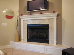 fireplace mantels and surrounds ideas with tv vase in living room interior design