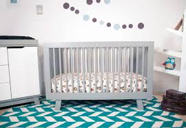 Toddler Bedding For Convertible Cribs by Hudson 3 In 1 Convertible Crib With Toddler Rail In Grey Twinkle