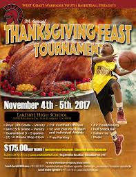 2017 9th annual thanksgiving feast tournament youth basketball