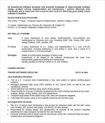 Sample Resume For Freshers Engineers Computer Science by Java Developer Resume Template 6 Download Documents In Pdf Psd