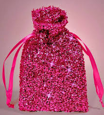 pink gift bags pink sparkle favor bags silver pink and hot pink wedding