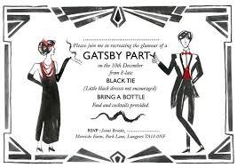 gatsby invitations great gatsby party invitations badbrya