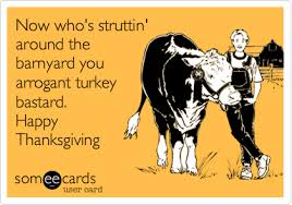 thanksgiving ecard now who s struttin around the barnyard