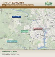 Gmu Campus Map The Mason Explorer Josh Hughes A Web Design Portfolio