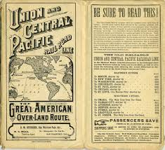 Union Pacific Route Map by 1882 Time Table Showing The First Transcontinental Us Railroad
