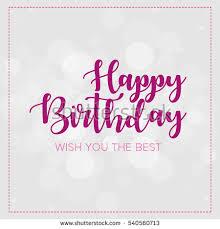 happy birthday wish you best lettering stock vector 540560713