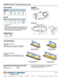 unit equipment emergency lighting lithonia lighting elm2 led m12 emergency lighting led l head