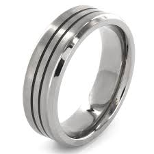 simple mens wedding bands cool mens wedding bands in gorgeous black tungsten carbide black