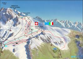 Italy Mountains Map by Cervinia Ski Resort Cervinia Italy Breuil Cervinia
