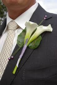 calla corsage corsage vanda paars corsage wedding