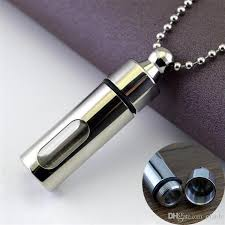mens necklace images Wholesale mens necklace stainless steel glass cylinder jpg
