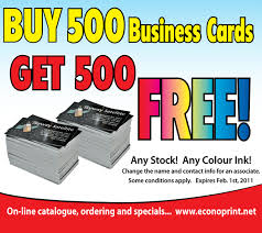 500 Business Cards For Free Buy 500 Business Cards Get 500 Free Promotion Expired Econoprint