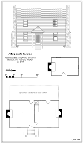 Floor Plan Of House Phillip Fitzgerald House