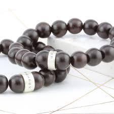 mens bracelet beads images Personalised wooden bead mens bracelet by soremi jewellery jpg