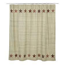 beths country primitive home decor abilene star shower curtain 72x72