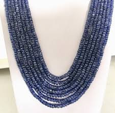 sapphire bead necklace images 645 crt natural sapphire beads necklace jpg