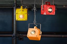 vintage designs industrial lights and playful shades of paint