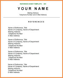 resume reference template resume reference sheet template resume reference page template