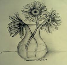 Pencil Sketch Of Flower Vase The World U0027s Newest Photos By Noir Flickr Hive Mind