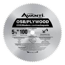 Circular Saw Blade For Laminate Flooring Avanti 5 1 2 In X 100 Tooth Osb Plywood Saw Blade A05100x The