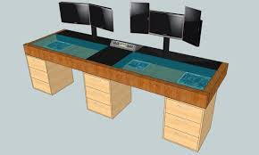 pc desk design computer desk blueprints desk design ideas gaming areas you