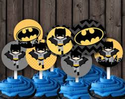 batman party supplies batman cupcake toppers batman cupcake picks batman party