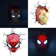 Avengers Wall Lights Costume One For Onemarvel Avengers Spiderman Iron Man Head Face