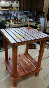 Outdoor Furniture Made From Wood Pallets A Side Table Made From Pallet Wood U2022 1001 Pallets