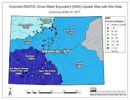 colorado snowpack map snowpack sw basins 154 of normal best in colorado