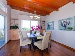 contemporary dining room with hardwood floors u0026 crown molding in