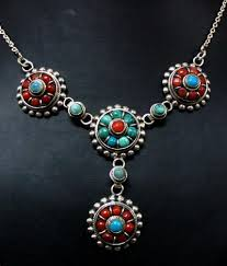 turquoise tibetan necklace images Turquoise coral jewelry jpg