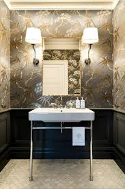 a very blah powder room transforms into a jewel box laurel home