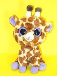 ty beanie boos stuffed plush beanie giraffe safari 6in 2010 ty