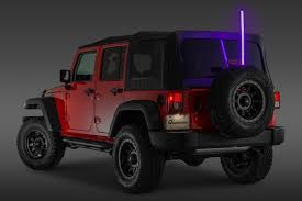 jeep purple rugged ridge multi colored led lighted whip with mounting bracket